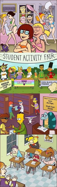 Cartoon Characters In College - Are you freakin' kidding me!?! - L