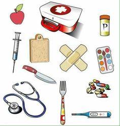 WB - Wat hoort er in de tas van de dokter Community Helpers Worksheets, Worksheets For Kids, Activities For Kids, Crafts For Kids, People Who Help Us, Community Workers, Health Images, Medical Symbols, Hygiene