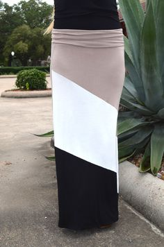 Three Stripes You're Out Maxi Skirt (S to XL) from The Gray Door Boutique