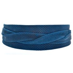 Wrap Belt Blue, $63, now featured on Fab.
