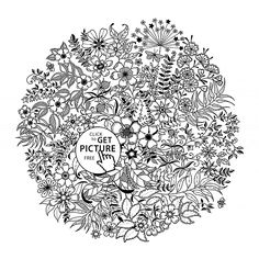 A Mandala With FlowersFrom The Gallery Flowers And Vegetation