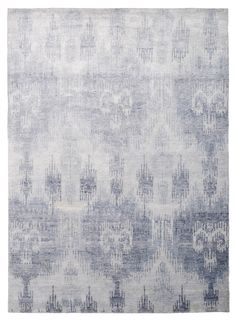 Bamboo Ikat Blue by The Rug Company - The Rug Company