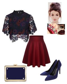"""""""Untitled #245"""" by xoxo-maneshass on Polyvore featuring Topshop, Lola Cruz and Valentino"""