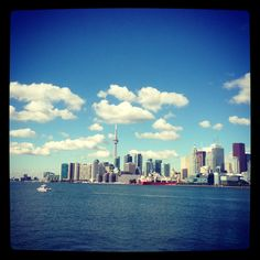 View of Toronto from Polson Pier (formerly The Docks). This is one of hidden hot spots in Toronto. Not known by the tourists.