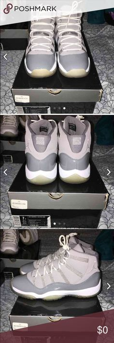 cool grey 11s og ‼️ Trades accepted ‼️ these been in my collection for a while but I have 2 pairs & im willing to trade these, also selling on Mercari or trading on here Jordan Shoes Sneakers