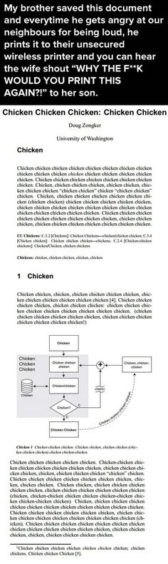 Chicken Has No Meaning Anymore