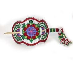 White Earth Real Wild Rice - Beaded Turtle Stick Barrett, $96.00 (http://realwildrice.com/beaded-turtle-stick-barrett/)
