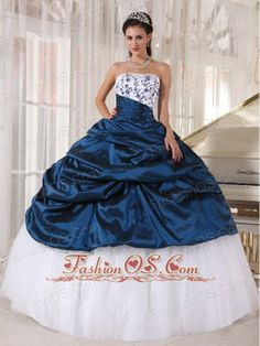 Beautiful Quinceanera Dress Strapless Taffeta and Tulle Embroidery Ball Gown  http://www.fashionos.com