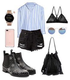 """""""Wednesday look"""" by alegaravito on Polyvore featuring moda, Vetements, Alexander McQueen, FOSSIL, Quay y Loeffler Randall"""