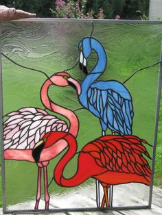Delphi Artist Gallery by zelma Making Stained Glass, Stained Glass Birds, Faux Stained Glass, Stained Glass Designs, Stained Glass Panels, Stained Glass Projects, Stained Glass Patterns, Mosaic Birds, Glass Animals