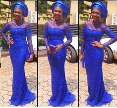 Beautiful Aso Ebi Lace Wedding Gown Style