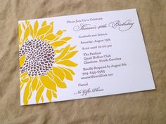 Terrific Absolutely Free Wedding Invitation sunflower Popular Have you set a romantic date for your wedding? If so, congratulations! Now it's time to access foc invitations sunflower Wedding Invitation Wording Templates, Mason Jar Wedding Invitations, Sunflower Wedding Invitations, Handmade Wedding Invitations, Invitation Card Design, Diy Invitations, Wedding Invitation Design, Birthday Invitations, Invites