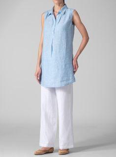 Vivid Linen~MISSY Clothing - Linen Sleeveless Tunic