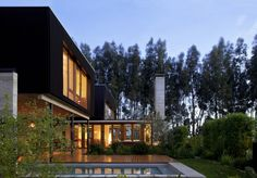 Deck area at Rock House, Chile by UN Arquitectura