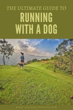 Before you hit the trails with your four-legged pal, read these tips on running with a dog. #trailrunningtips