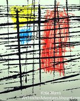 Messy Mondrian, like the idea of the printed lines with color added when dry.
