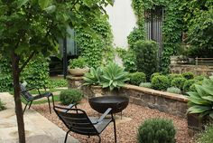 If you are puzzling over how your garden and backyard should look, here is a great example. This relaxing garden was created by Kate Seddon Landscape Design. Small Courtyard Gardens, Small Gardens, Outdoor Gardens, Cheap Landscaping Ideas, Backyard Landscaping, Small Garden Ideas Melbourne, Landscape Design Melbourne, Small Garden Design, Garden Spaces