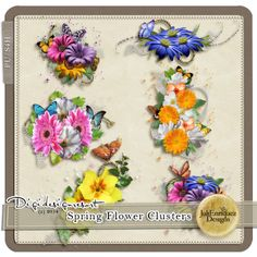 Spring Flower Clusters (PU/S4H) by JuliEnriquez Designs Spring Flower Clusters by JuliEnriquez Designs [JED-Spring-Flower-Clusters] - $2.44 : Digidesignresort
