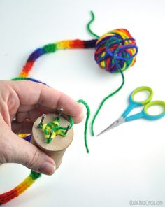 This DIY knitting spool could be used to make special SWAPS or just general crafty fun!
