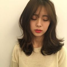 p 553 × 551 Pixel Pelo Ulzzang, Ulzzang Hair, Medium Straight Haircut, Korean Short Hair, Korean Hair Medium, Middle Hair, Medium Hair Styles, Long Hair Styles, Shot Hair Styles