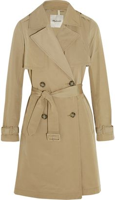 Madewell Parcel Cotton-Blend Gabardine Trench Coat  #burberry #camelcoat #nudecolor #ootd #outfit