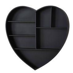 Adeco Decorative Heart Shaped Wooden Wall Shelves