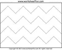 Zig Zag Line Tracing and Cutting  – 7 Worksheets