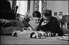 James Dean with his cousin Markie, 1955, in Fairmount, Indiana. Photo by Dennis Stock