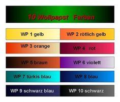 Wo-pa-Wollfarben - Sortiment 10 Farben a 10 g