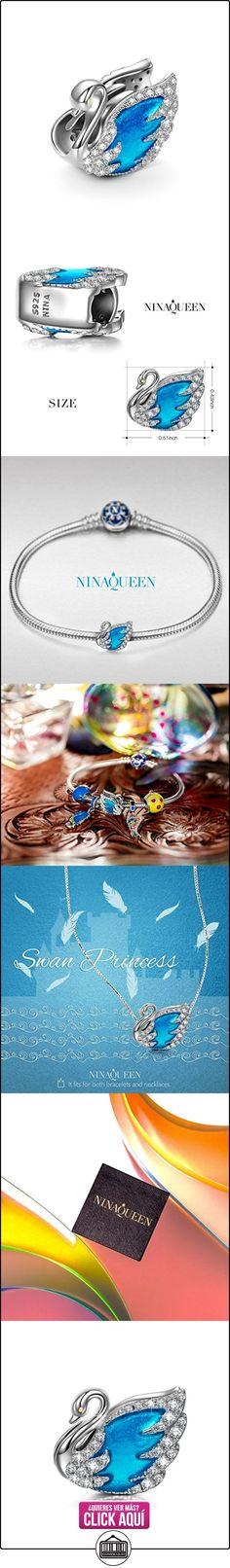 NinaQueen Princesa cisne Abalorio de mujer de plata de ley Charms beads fit Pandora pulseras  ✿ Joyas para mujer - Las mejores ofertas ✿ ▬► Ver oferta: https://comprar.io/goto/B01IVI369O