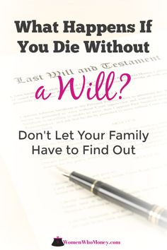 Still not sure if you need a will but worried what'll happen if you don't have one? Learn what's involved in creating a will and why it's important for you. Family Emergency Binder, Funeral Songs, When Someone Dies, Last Will And Testament, Home Binder, Budget Organization, Organizing Tips, Funeral Planning, If I Die