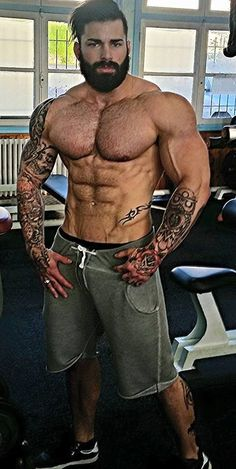 Muscle man cryptocurrency tatoos