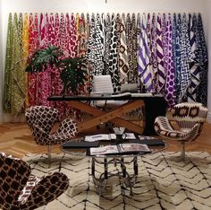 Madeline Weinrib's rugs on display posted from Kriste Michelini Interiors.