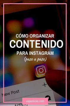 como organizar contenido para instagram