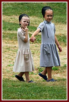 "I doubt this little Amish girl really knows what she is doing but given the anti-camera feelings of most of the Amish, I find it amusing which finger this little girl has sticking up lol. ;-)  ""Go ahead English tourist, make my day."""