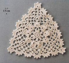 Asahi flower doily 2014 by MinjaB - issuu Crochet Bedspread Pattern, Crochet Motif, Crochet Doilies, Crochet Yarn, Crochet Flowers, Crochet Patterns, Crochet Triangle, Crochet Squares, Love Crochet