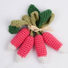 Fruits En Crochet, Crochet Food, Knit Crochet, Play Food, Educational Toys, Couture, Lana, Needlework, Projects To Try