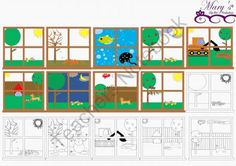 Window Scenes Clip Art from mzmary on TeachersNotebook.com -  (22 pages)  - These great window views will you have looking at your window all day long.