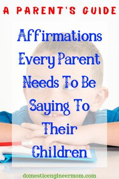 Give your child a healthy self-image with these words of affirmations. Positive Affirmations For Kids, Positive Discipline, Parenting Memes, Parenting Advice, Gentle Parenting, Kids And Parenting, Kids Mental Health, Words Of Affirmation, Anxiety In Children