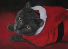 NFAC Original Acrylic Painting/ Cat/ Feline/ Pet/ Costume/ Realism #Realism