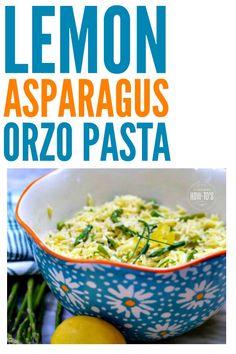 Lemon Asparagus Orzo