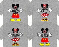 ee60ba6c49b08 MICKEY MINNIE Block LETTERS Personalized Disney Vacation Matching ...