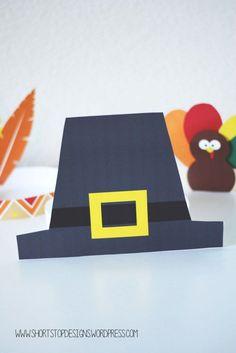Pilgrim Hat - Thanksgiving Kids Hat Printable