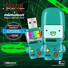 BMO Rainbow flash drive, limited to 2,000 hand-numbered units!