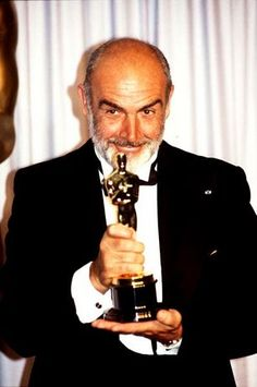 "Sean Connery - Best Supporting Actor Oscar for ""The Untouchables"" Oscar Academy Awards, Academy Award Winners, Sean Connery, James Bond, Hollywood Stars, Classic Hollywood, I Movie, Movie Stars, Oscar Wins"