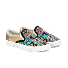Shoes for Men Canvas Bananapattern Canvas Slip-on Casual Printing Comfortable Low Top Canvas House Shoes