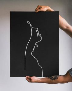 One Line Drawings & Portraits - With One Line - Minimal Line Artist Line Tattoos, Body Art Tattoos, Elephant Outline, Line Artist, Oil Pastel Art, Screen Print Poster, Silk Screen Printing, Wire Art, Simple Lines
