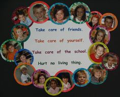 Good idea to have all the kids pictures around the rules so they know they need to follow them