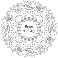 134 best happy birthday coloring pages