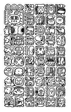 Aztec Symbols, Alphabet Symbols, Mayan Symbols, Viking Symbols, Egyptian Symbols, Ancient Symbols, Ancient Art, Viking Runes, Mayan Tattoos
